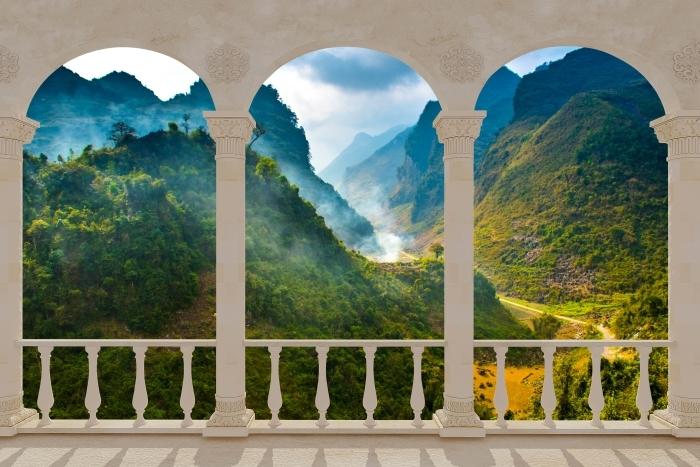 Fototapeta winylowa Taras - Ha Giang. Wietnam. - Tarasy