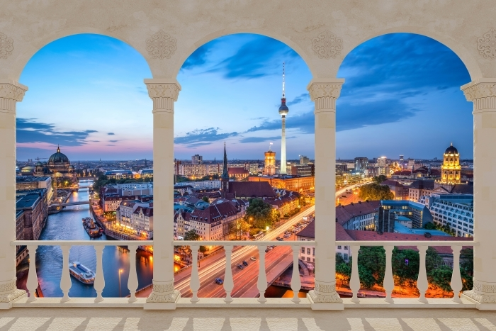 Fototapeta winylowa Taras - Widok na Berlin - Tarasy