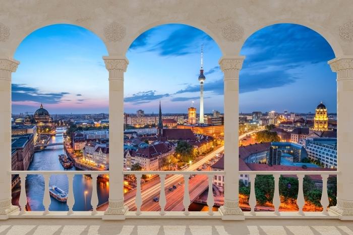 Papier peint vinyle Terrasse - Vue de Berlin -