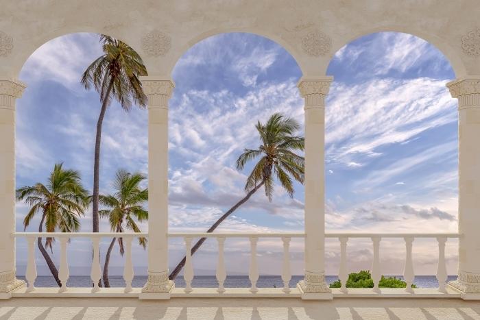 Terrace - Palm trees Vinyl Wall Mural - Terraces