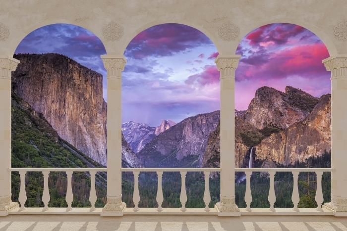 Papier peint vinyle Terrasse - Parc national de Yosemite -