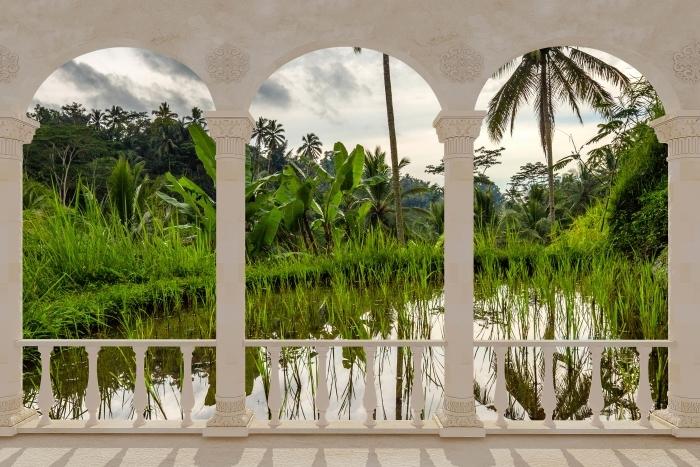 Fototapeta winylowa Taras - Palmy. Indonezja. - Tarasy