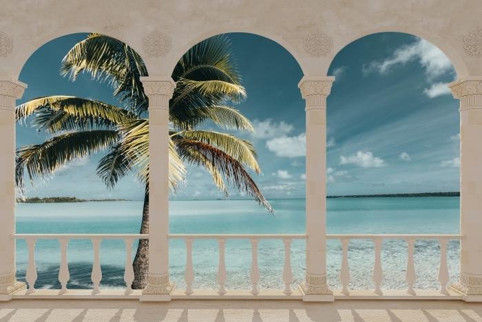 Fototapeta winylowa Taras - gotować drzewo Palm Island - Tarasy