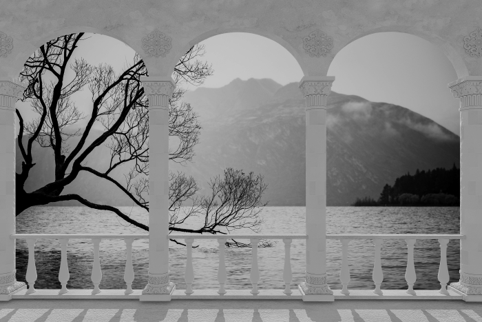 Papier peint vinyle Terrasse - Paysage. nouvelle-Zélande -