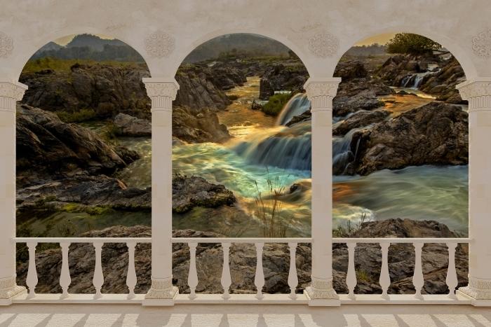 Papier peint vinyle Terrasse - Cascade -