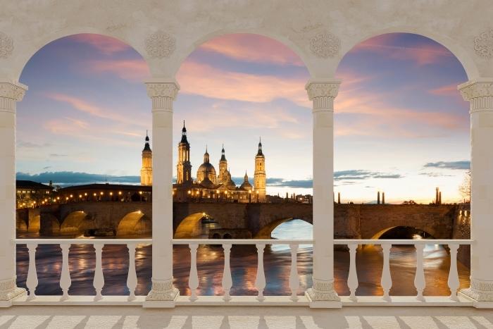 Fototapeta winylowa Taras - Katedra. Hiszpania. - Tarasy