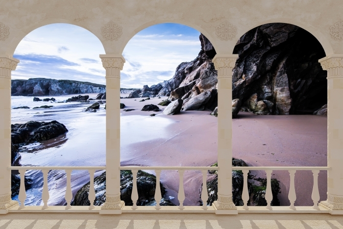 Fotomural Estándar Terraza - Costa en Francia. -