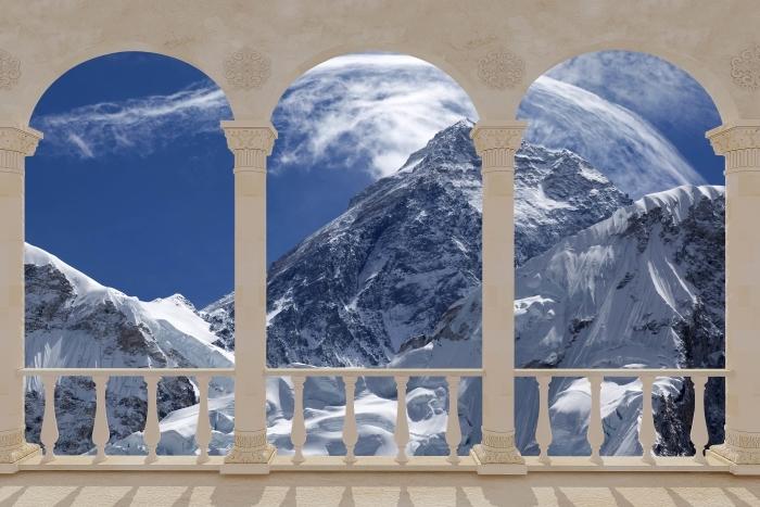 Papier peint vinyle Terrasse - Mont Everest -