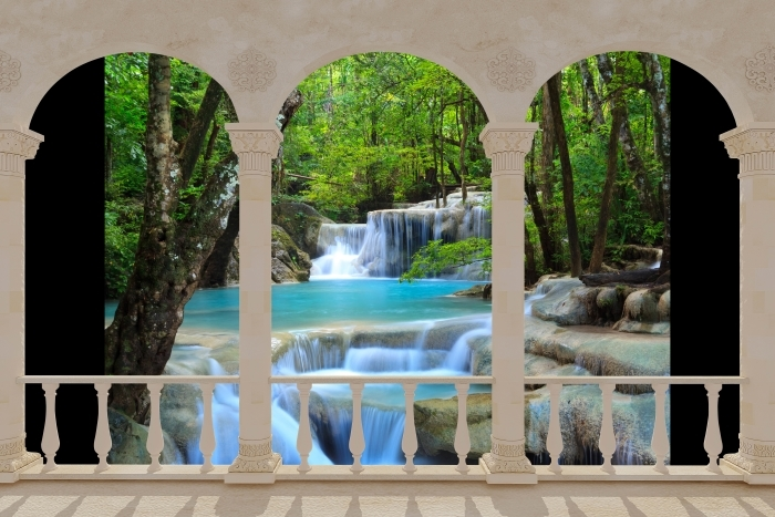 Fototapeta samoprzylepna Taras - Wodospad Erawan. Tajlandia - Tarasy