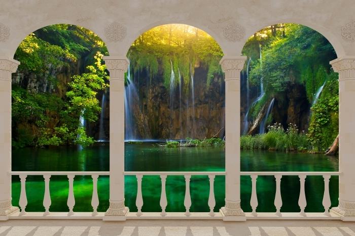 Terrace - Plitvice Lakes. Croatia. Vinyl Wall Mural - Terraces