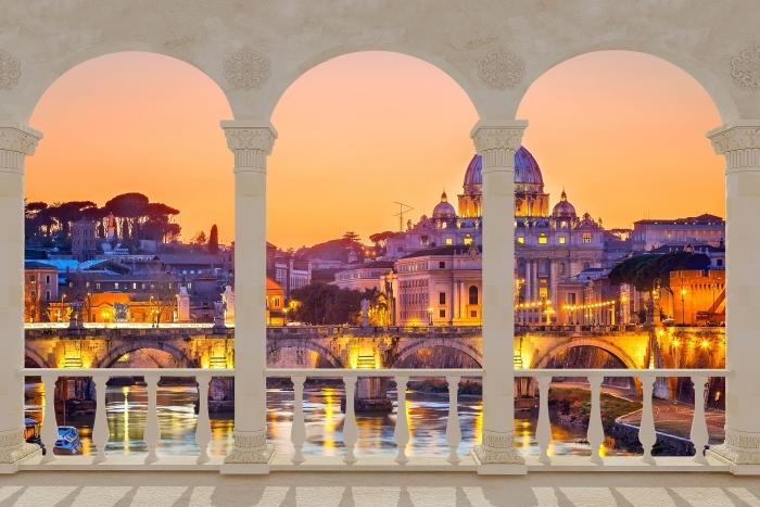 Fototapeta winylowa Taras - Katedra Świętego Piotra. Rzym - Tarasy