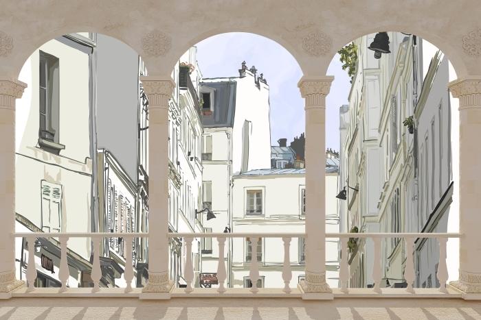 Papier peint vinyle Terrasse - Paris -