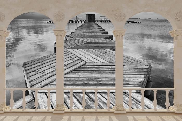 Papier peint vinyle Terrasse - Marina -