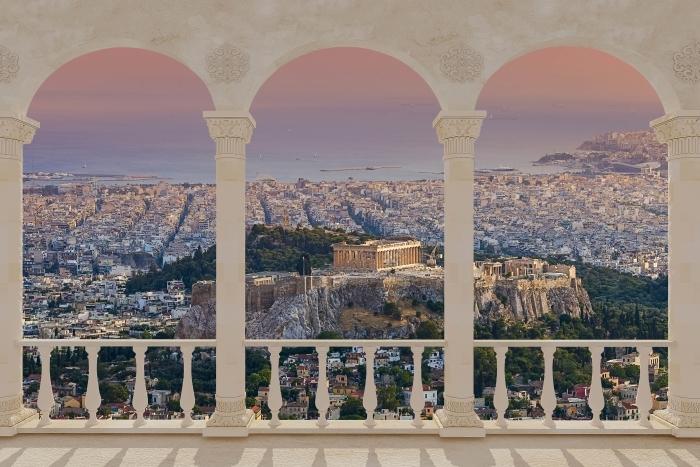 Papier peint vinyle Terrasse - Parthénon. Grèce -