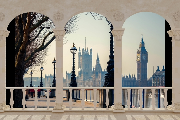 Fototapeta winylowa Taras - Big Ben. Londyn. - Tarasy