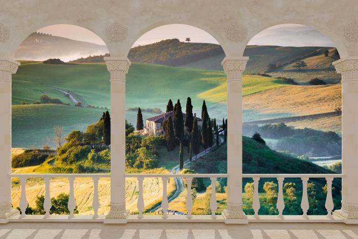 Papier peint vinyle Terrasse - Toscane -