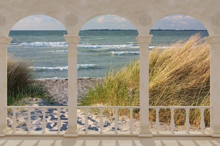 Fototapeta winylowa Taras - Plaża - Tarasy