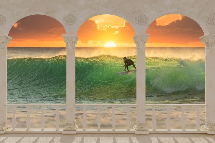 Terrace - Surfing Vinyl Wall Mural - Terraces