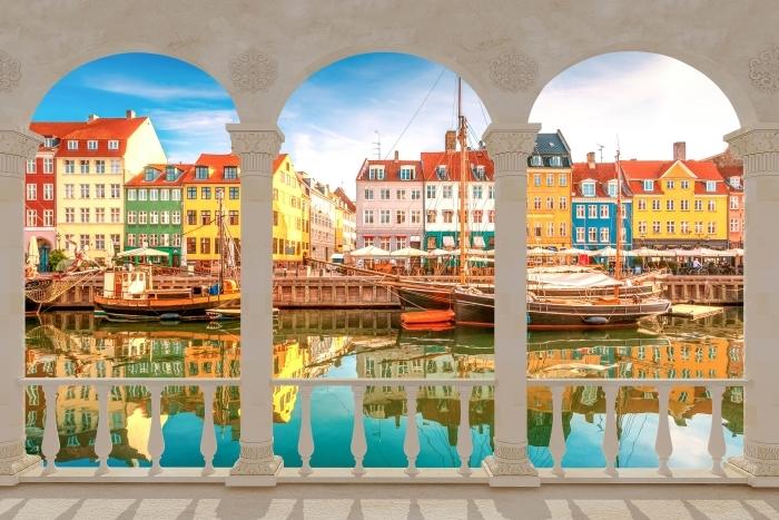 Vinil Duvar Resmi Teras - Kopenhag -
