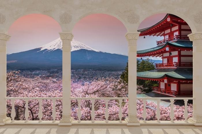 Papier peint vinyle Terrasse - Fuji -