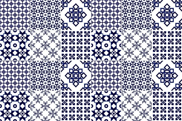 Sticker Pixerstick Mosaic - autocollants sur les tuiles - Mosaïque