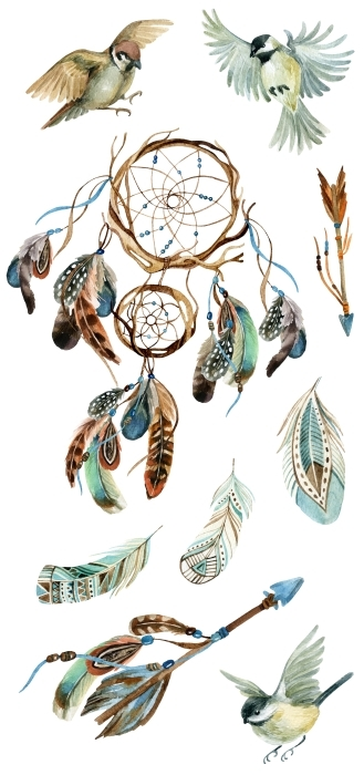 adornos de plumas Set de vinilos - SETS DE VINILOS