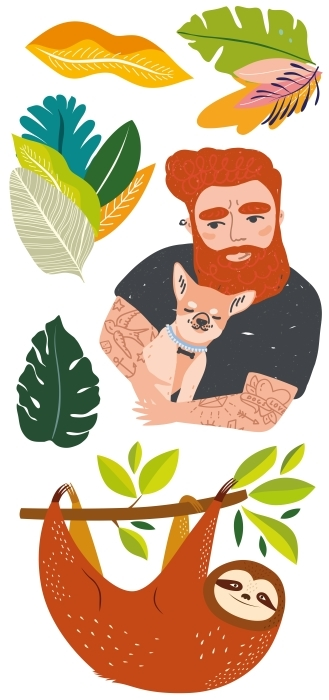 L'amour pour la nature Paquet de stickers - PAQUETS DE STICKERS