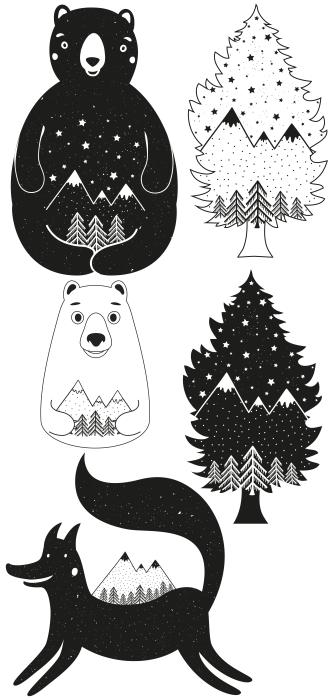 In the forest Sticker set - Sticker sets