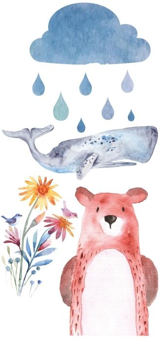 Cute animals Sticker set - Sticker sets