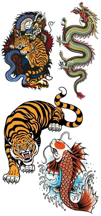 Gefährliche Tiere Aufkleber-Set - AUFKLEBER-SETS