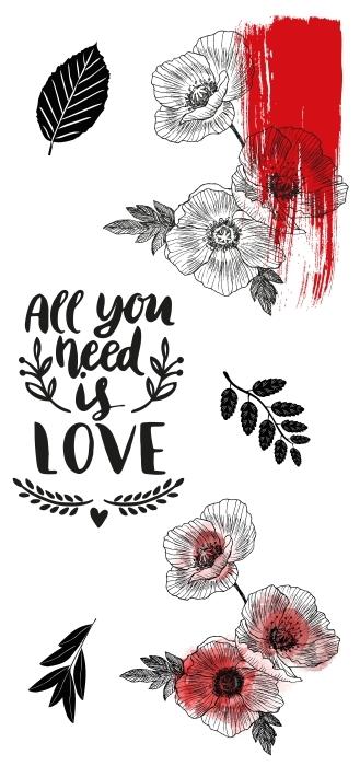 Wszystko czego Ci trzeba to miłość Zestaw naklejek - Zestawy naklejek