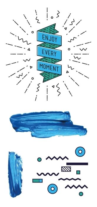 blaue Regeln Aufkleber-Set - AUFKLEBER-SETS