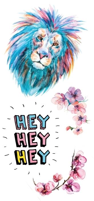 Cześć Lwie Zestaw naklejek - Zestawy naklejek