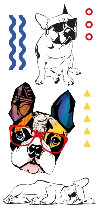 Słodkie psy Zestaw naklejek - Zestawy naklejek