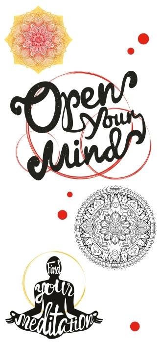 Otwórz swój umysł Zestaw naklejek - Zestawy naklejek
