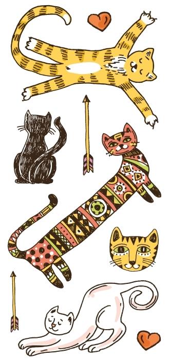 Koty Zestaw naklejek - Zestawy naklejek