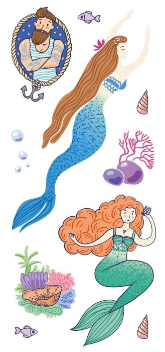 Stworzenia morskie Zestaw naklejek - Zestawy naklejek