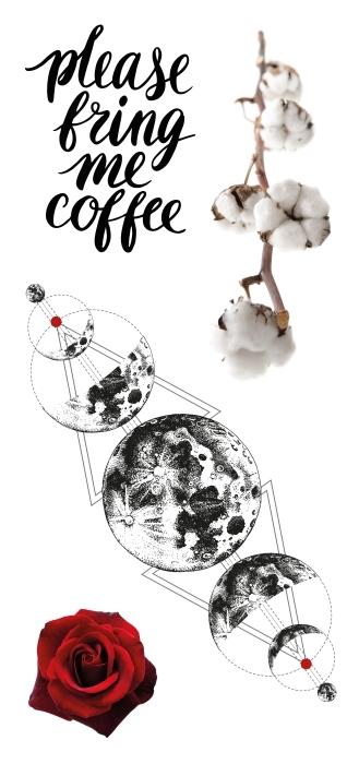 Proszę przynieść mi kawę Zestaw naklejek - Zestawy naklejek