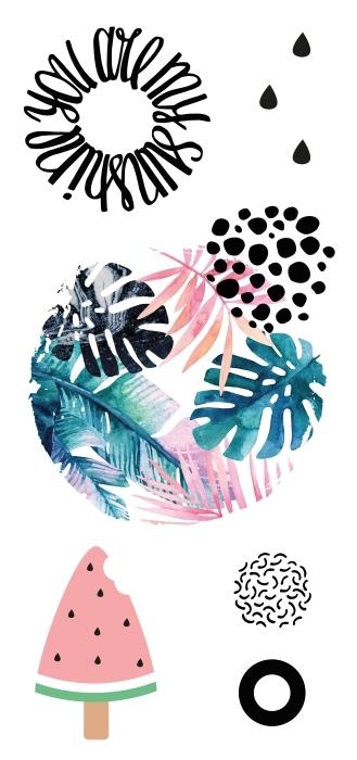 Des couleurs pastel Paquet de stickers - PAQUETS DE STICKERS