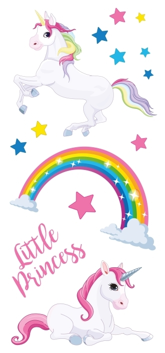 licornes arc-en- Paquet de stickers - PAQUETS DE STICKERS