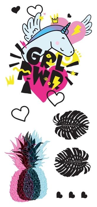 Pouvoir des filles Paquet de stickers - PAQUETS DE STICKERS