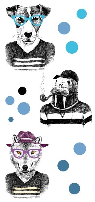 animaux intéressants Paquet de stickers - PAQUETS DE STICKERS