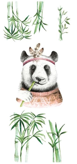 Bambus Zestaw naklejek - Zestawy naklejek