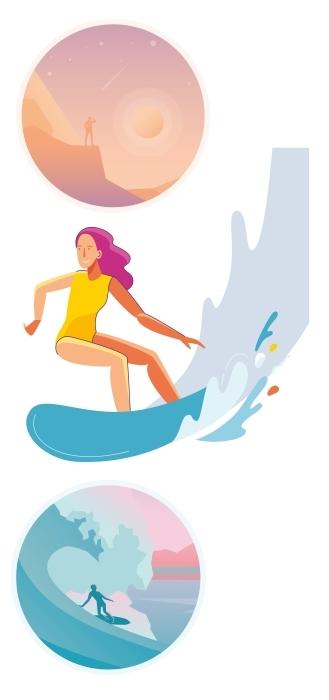 Sporty wodne Zestaw naklejek - Zestawy naklejek
