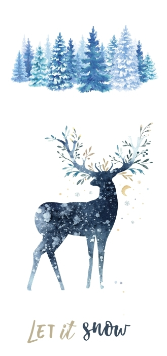 Zima w lesie Zestaw naklejek - Zestawy naklejek