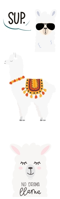 animales blancos Set de vinilos - SETS DE VINILOS