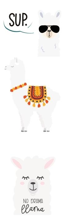 Białe zwierzęta Zestaw naklejek - Zestawy naklejek