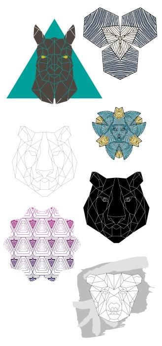 animales arte Poly Set de vinilos - SETS DE VINILOS