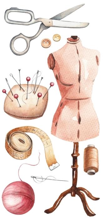 Naaien van een jurk Stickerset - STICKERSETS