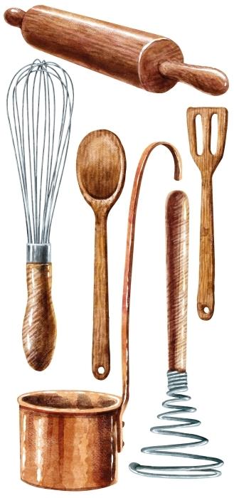 attrezzature da cucina Set di adesivi - SET DI ADESIVI